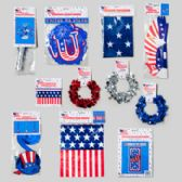 198 Units of Patriotic Party Decor Shipper 9asst/198pc Floor Display - 4th Of July