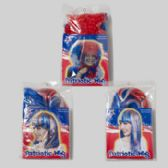 24 Units of Patriotic Wig 3asst Styles Long/curly/pixie Gov Patriotic Pbh Insert - 4th Of July