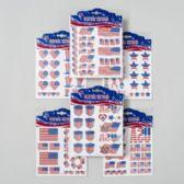 144 Units of Tattoo Temporary Patriotic W/glitter 6asst On 12pc Merch- Strip Gov Patriotic Pbh CTN DIM: 40.15 X 6.61 X 1.889 INCHES - 4th Of July