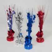 96 Units of Tinsel Table Decor Patriotic Red/silver/blue/multi - 4th Of July