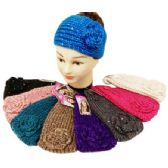 24 Units of Sequins Knitted Ear band / Headbands assorted - Headbands