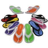 48 Units of Girl's Sport Multi Colors Flip Flops - Girl's Flip Flops