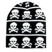 36 Units of Winter Beanie Hat With Skull Print - Winter Beanie Hats