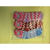 120 Units of Woman Fuzzy Socks Size 9-11 Checkered