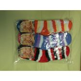 120 Units of Woman Fuzzy Socks Size 9-11 3 Tone Color