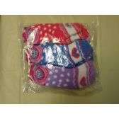 120 Units of Woman Fuzzy Sock Size 9-11 Heart Print