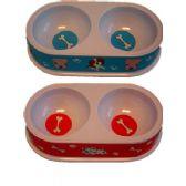 144 Units of 4'' dual pet bowl, - Pet Accessories