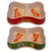 60 Units of 5'' bone shape pet bowl, - Pet Accessories