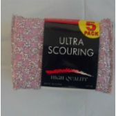 144 Units of 5pc Ultra Scouring pad - Scouring Pads & Sponges