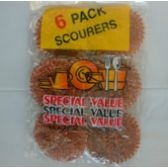 144 Units of 6pc Scourers - Scouring Pads & Sponges