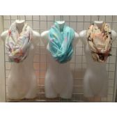 60 Units of LADIES FASHION SCARF ASST COLORS - Womens Fashion Scarves