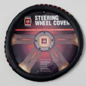 40 Units of Steering Wheel Cover Black/red On Peggable Crdbrd Insert