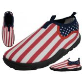 36 Units of Women's US Flag Printed Water Shoes - Women's Aqua Socks