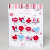 144 Units of Erasers Novelty Valentine 12pk - Valentine Decorations