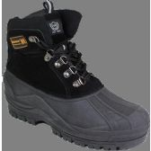 """12 Units of Men""""s Rubber Duck Boots Black Only - Men's Work Boots"""