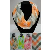 12 Units of Light Weight Infinity Scarf [Two Color Wide Chevron] - Womens Fashion Scarves