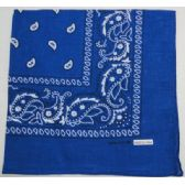 48 Units of Bandana-Royal Blue Paisley - Bandanas