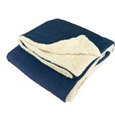 12 Units of ULTRA-PLUSH REVERSIBLE THROW BLANKET NAVY