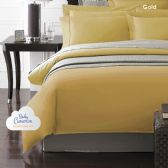 12 Units of Becky Cameron 1800 Series 3-PC Ultra-Fine Weave Combed Microfiber Duvet Cover Case King Size Gold