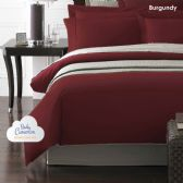12 Units of Becky Cameron 1800 Series 3-PC Ultra-Fine Weave Combed Microfiber Duvet Cover Case Queen Size Burgandy