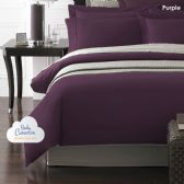 12 Units of Becky Cameron 1800 Series 3-PC Ultra-Fine Weave Combed Microfiber Duvet Cover Case Queen Size Purple