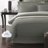 12 Units of Becky Cameron 1800 Series 3-PC Ultra-Fine Weave Combed Microfiber Duvet Cover Case Queen Size Gray