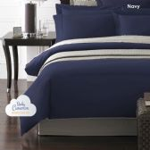 12 Units of Becky Cameron 1800 Series 3-PC Ultra-Fine Weave Combed Microfiber Duvet Cover Case Queen Size Navy