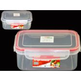 96 Units of Airtight Container Rectangle W/4 Loc16.5x11x6.5cm - Storage Holders and Organizers
