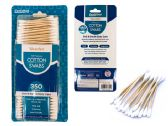 144 Units of Cotton Swab 350 Count Woodenbag - Cotton Balls & Swabs