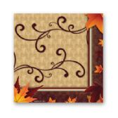 288 Units of Fall Turkey Bev Napkin 16ct - Party Paper Goods