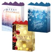 144 Units of Gift-Bag Jumbo Gls Holiday #2 3 Asst - Gift Bags
