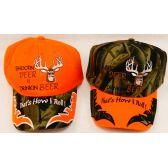36 Units of Shoot Deer & Drink Beer Hunt Baseball Cap/ Hat - Hunting Caps