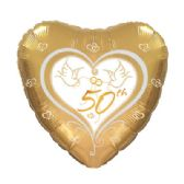 100 Units of CT 17 DS 50th Anniversary Doves - Balloons & Balloon Holder