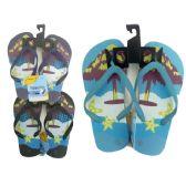 72 Units of Boys Assorted Print Flip Flop - Boys Flip Flops & Sandals