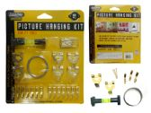 144 Units of Picture Hook Kit 52pc W/Blister - Hooks
