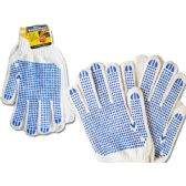 144 Units of Working Gloves Men 2pairs Blue Clr - Working Gloves