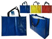 144 Units of Polka Dot Shopping Bag