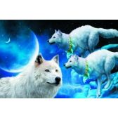 20 Units of 3D Picture 11--3 Wolves with Moon - 3D Pictures