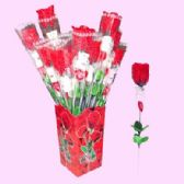 """48 Units of 17"""" RED ROSE W/BEAR - VALENTINES"""