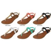 36 Units of LADIES NUBUCK T-STRAP SANDAL WITH HARDWARE DETAIL