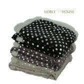 12 Units of Sherpa Blankets assorted Color Style Dot - Fleece & Sherpa Blankets