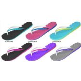 72 Units of LADIES EVA FLIP FLOPS WITH QUILTED FOOTBED