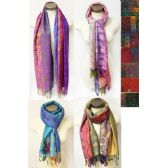 24 Units of Multi-colors Paisley Floral Pashmina Assorted colors - Womens Fashion Scarves