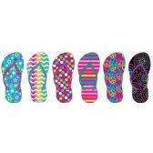 72 Units of Girl's Printed Flip Flops - Girl's Flip Flops