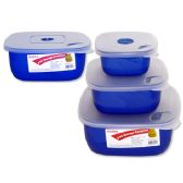 48 Units of Storage Cont Sq 3asst Color - Storage Holders and Organizers
