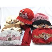 60 Units of Ladies  2 Piece Winter Set - Winter Sets Scarves , Hats & Gloves