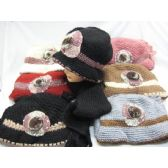 60 Units of Ladies  2 Piece Winter Set Assorted Colors - Winter Sets Scarves , Hats & Gloves