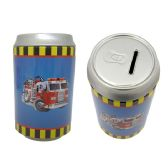 72 Units of Saving Bank Tin Fire Truck - Coin Holders/Banks/Counter