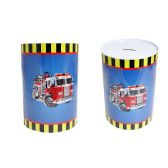 48 Units of Fire Truck Tin Saving Bank - Coin Holders/Banks/Counter