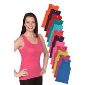 24 Units of Women's Assorted Color Sleeveless Tops Set - Womens Camisoles & Tank Tops